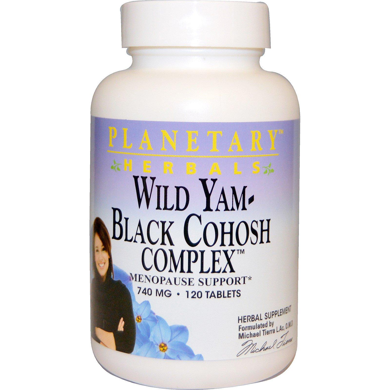 Planetary Herbals, Wild Yam - Black Cohosh Complex, 740 mg