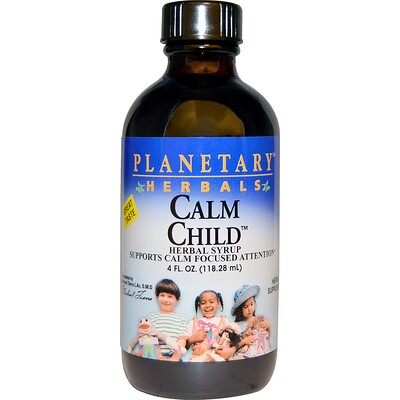 Успокаивающее для детей, травяной сироп, 4 жидких унции (118.28 мл)