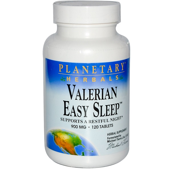 Planetary Herbals, Valerian Easy Sleep, 900 mg, 120 Tablets (Discontinued Item)