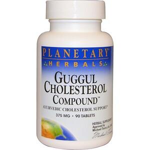 Планетари Хербалс, Guggul Cholesterol Compound, 375 mg, 90 Tablets отзывы