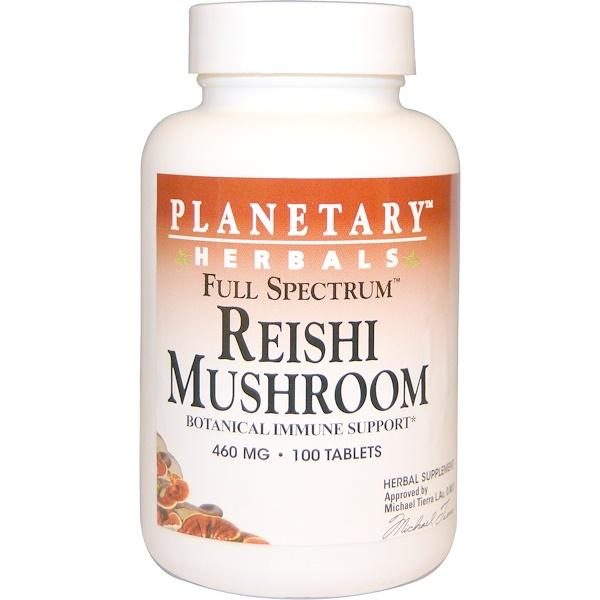 Planetary Herbals, Reishi Mushroom, Full Spectrum, 460 mg, 100 Tablets (Discontinued Item)