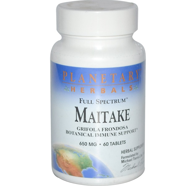Planetary Herbals, Full Spectrum, Maitake, 650 mg, 60 Tablets (Discontinued Item)