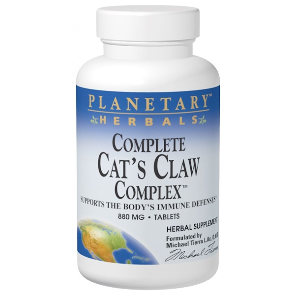Planetary Herbals, Complete Cat's Claw Complex, 880 mg, 90 Tablets (Discontinued Item)