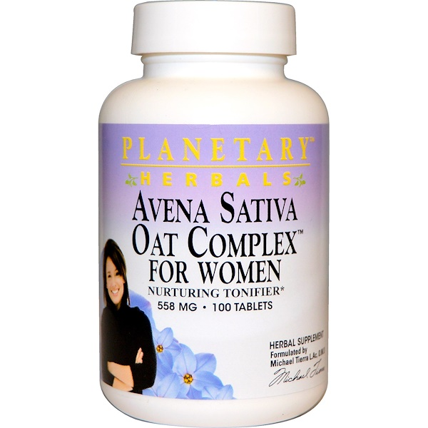 Planetary Herbals, Avena Sativa Oat Complex for Women, 558 mg, 100 Tablets (Discontinued Item)