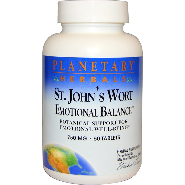 Planetary Herbals, St. John's Wort, Emotional Balance, 750 mg, 60 Tablets (Discontinued Item)
