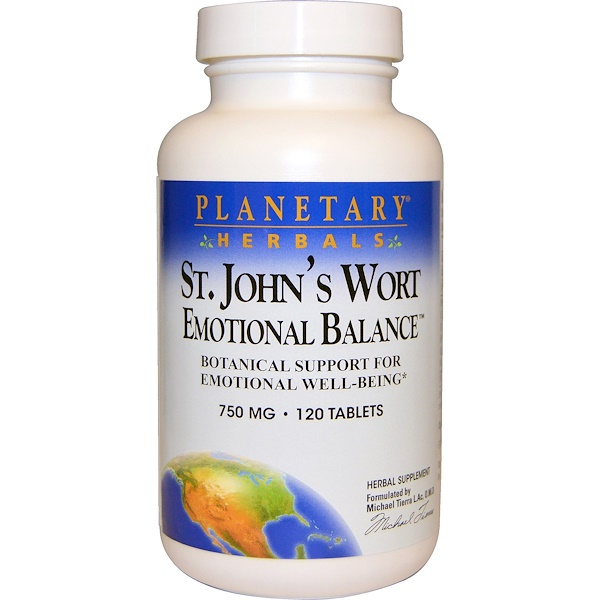 Planetary Herbals, St. John's Wort Emotional Balance, 750 mg, 120 Tablets (Discontinued Item)