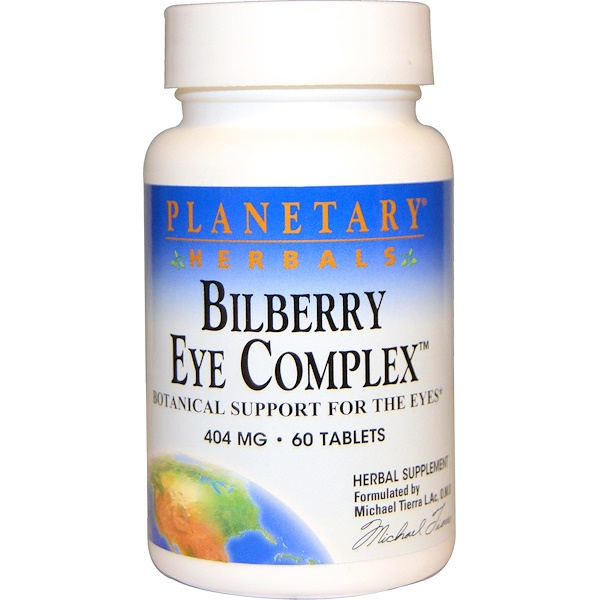 Planetary Herbals, Bilberry Eye Complex, 404 mg, 60 Tablets (Discontinued Item)
