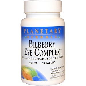 Планетари Хербалс, Bilberry Eye Complex, 404 mg, 60 Tablets отзывы