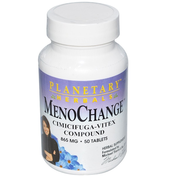 Planetary Herbals, MenoChange, 865 mg, 50 Tablets (Discontinued Item)
