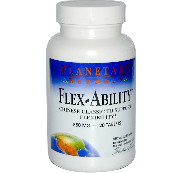 Planetary Herbals, Flex-Ability, 850 mg, 120 Tablets (Discontinued Item)