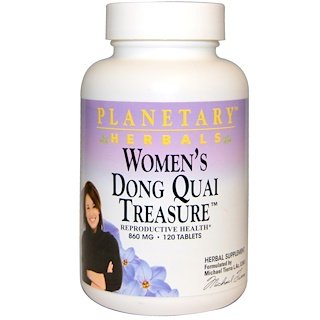 Planetary Herbals, Women's Dong Quai Treasure, 860 mg, 120 Tablets
