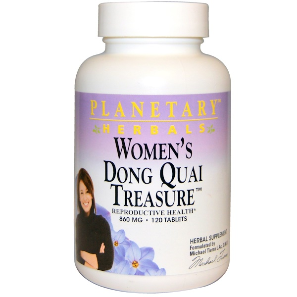 Planetary Herbals, Women's Dong Quai Treasure, 860 mg, 120 Tablets (Discontinued Item)
