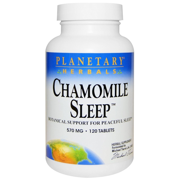 Planetary Herbals, Chamomile Sleep, 570 mg, 120 Tablets (Discontinued Item)
