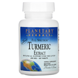 Planetary Herbals, Full Spectrum Turmeric Extract, 450 mg, 60 Tablets