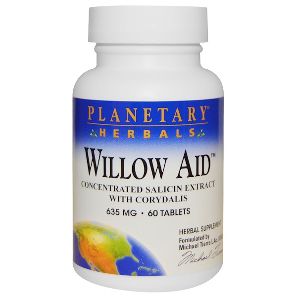 Planetary Herbals, Willow Aid, 635 mg, 60 Tablets