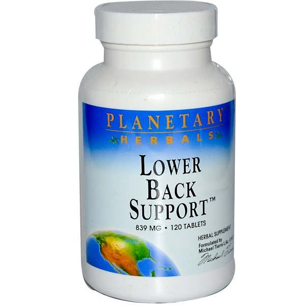 Planetary Herbals, Lower Back Support, 839 mg, 120 Tablets (Discontinued Item)
