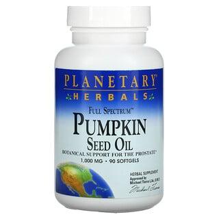 Planetary Herbals, Full Spectrum Pumpkin Seed Oil, 1,000 mg, 90 Softgels