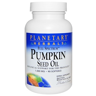Planetary Herbals, Full Spectrum, Pumpkin Seed Oil, 1,000 mg, 90 Softgels