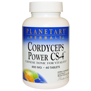 Planetary Herbals, Cordyceps Power CS-4, Chinese Tonic for Vitality, 800 mg, 60 Tablets