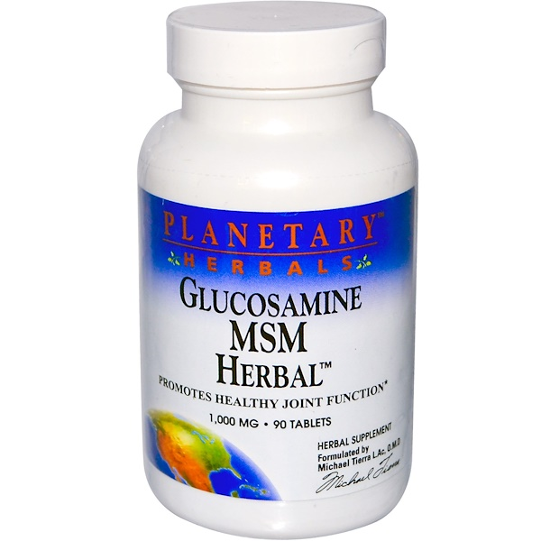 Planetary Herbals, Glucosamine MSM Herbal, 1,000 mg, 90 Tablets (Discontinued Item)
