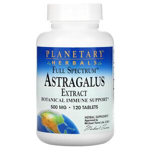Планетари Хербалс, Astragalus Extract, Full Spectrum, 500 mg, 120 Tablets отзывы