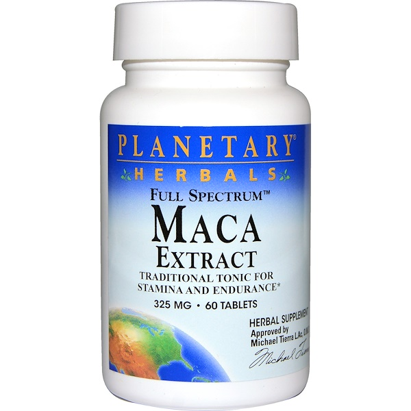 Planetary Herbals, Maca Extract, Full Spectrum, 325 mg, 60 Tablets (Discontinued Item)