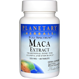 Планетари Хербалс, Maca Extract, Full Spectrum, 325 mg, 60 Tablets отзывы