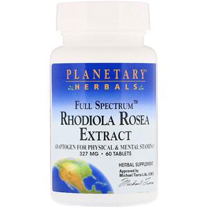 Планетари Хербалс, Rhodiola Rosea Extract, Full Spectrum, 327 mg, 60 Tablets отзывы покупателей