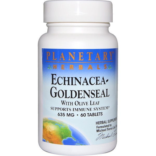 Planetary Herbals, Echinacea-Goldenseal with Olive Leaf, 635 mg, 60 Tablets (Discontinued Item)
