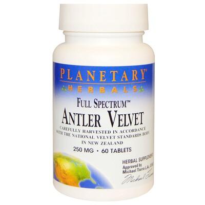 Planetary Herbals Full Spectrum, панты оленя, 250 мг, 60 таблеток