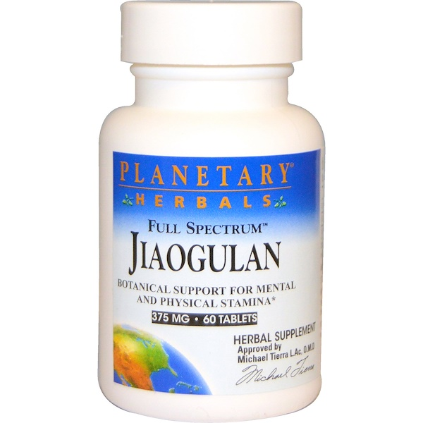 Full Spectrum Jiaogulan, 375 mg, 60 Tablets