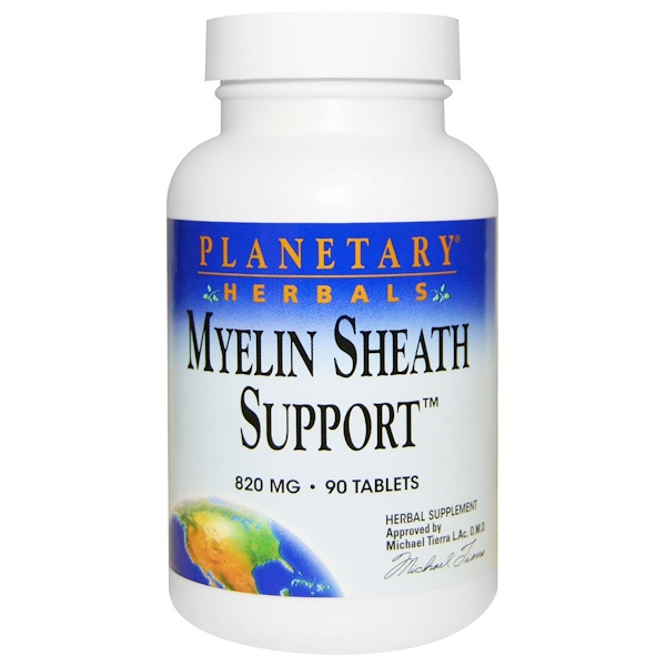 Planetary Herbals, Myelin Sheath Support, 820 mg, 90 Tablets