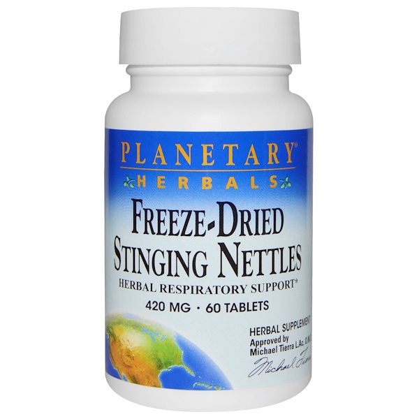 Planetary Herbals, Freeze-Dried Stinging Nettles, 420 mg, 60 Tablets (Discontinued Item)