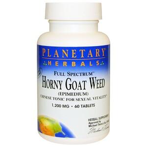 Планетари Хербалс, Horny Goat Weed, Full Spectrum, 1,200 mg, 60 Tablets отзывы покупателей