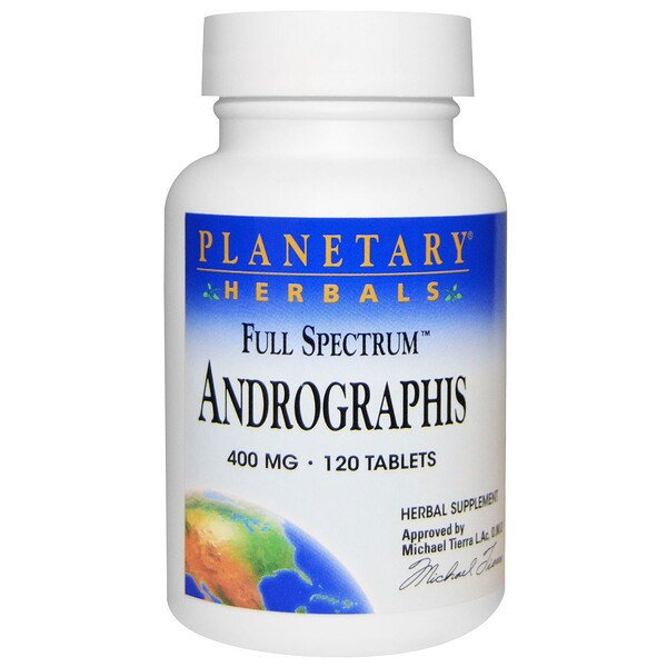 Planetary Herbals, Full Spectrum, Andrographis, 400 mg, 120 Tablets