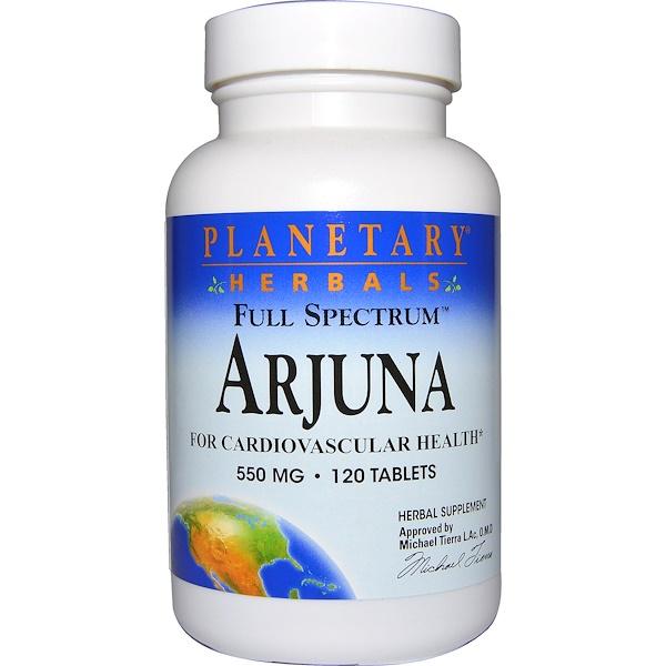 Planetary Herbals, Arjuna, Full Spectrum, 550 mg, 120 Tablets (Discontinued Item)