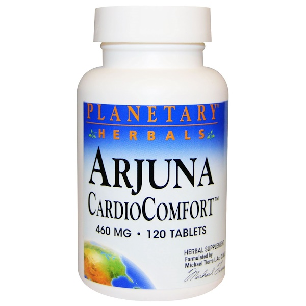 Planetary Herbals, Arjuna CardioComfort, 460 mg, 120 Tablets (Discontinued Item)