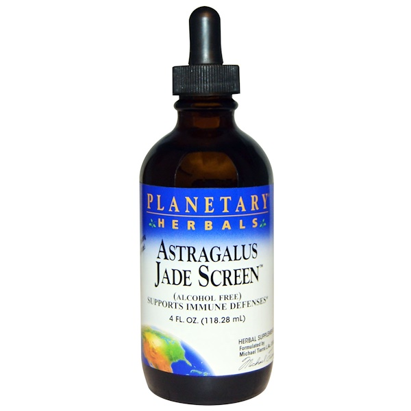 Planetary Herbals, Astragalus Jade Screen (Alcohol Free), 4 fl oz (118.28 ml) (Discontinued Item)