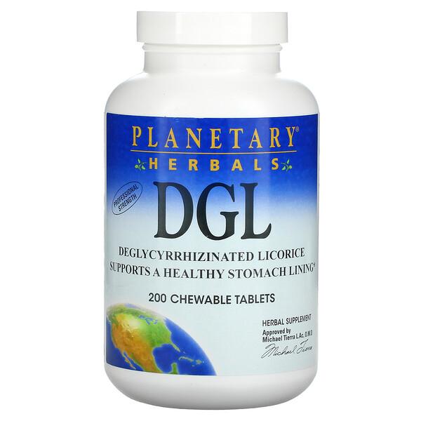DGL, Alcaçuz Deglicirrizinado, 200 tabletes mastigáveis