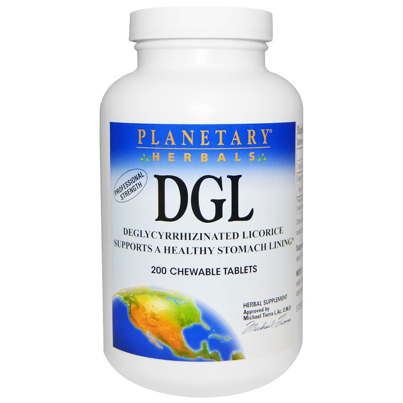 DGL, Deglycyrrhizinated Licorice, 200 Chewable Tablets