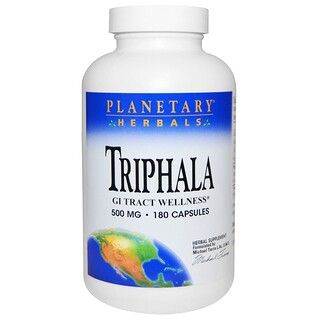 Planetary Herbals, Triphala, 500 mg, 180 Capsules