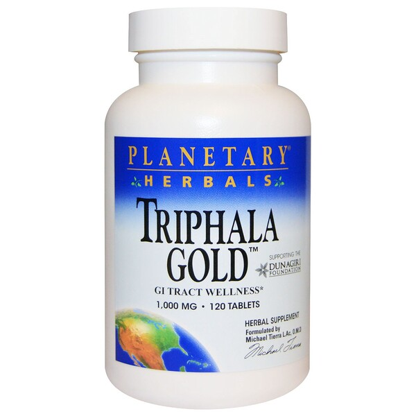 Triphala Gold, GI Tract Wellness, 1,000 mg, 120 Tablets