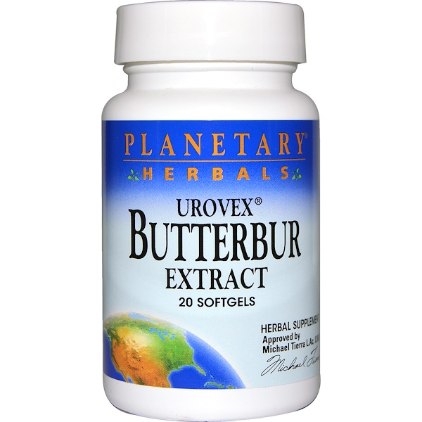 Planetary Herbals, Urovex, Butterbur Extract, 20 Softgels (Discontinued Item)
