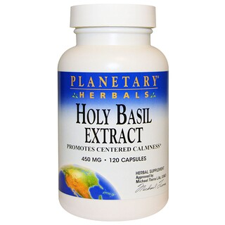 Planetary Herbals, Holy Basil Extract, 450 mg, 120 Capsules