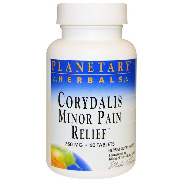 Planetary Herbals, Corydalis Minor Pain Relief, 750 mg, 60 Tablets (Discontinued Item)