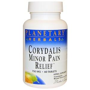 Планетари Хербалс, Corydalis Minor Pain Relief, 750 mg, 60 Tablets отзывы