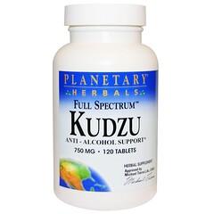 Planetary Herbals, Full Spectrum Kudzu, 750 mg, 120 Tablets