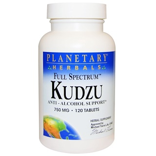 Planetary Herbals, Kudzu de espectro completo, 750 mg, 120 comprimidos