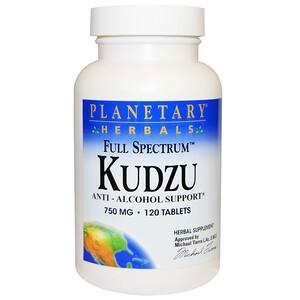Планетари Хербалс, Full Spectrum Kudzu, 750 mg, 120 Tablets отзывы