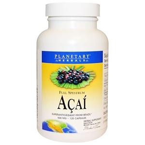 Планетари Хербалс, Acai, Full Spestrum, 500 mg, 120 Capsules отзывы